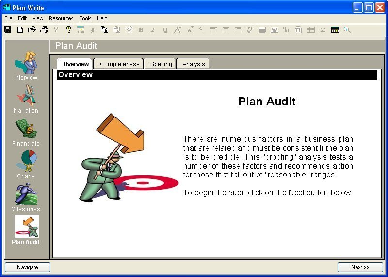 Business Plan Software Checking Pictures