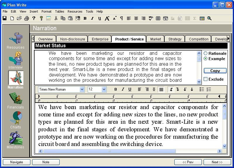 Plan Software: Business Plan Template