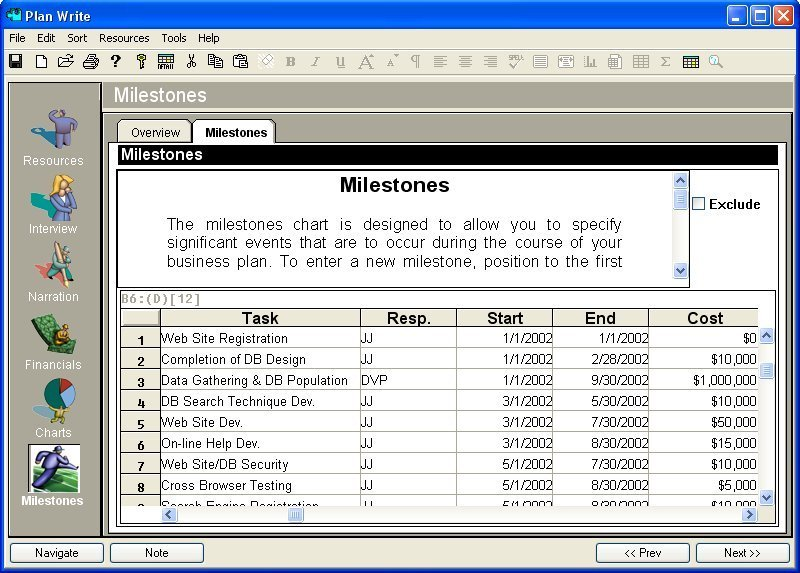 Business Plan Software Implement Business Plan